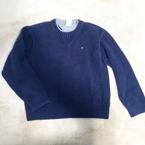 Tommy Hilfiger Knit Crew Neck Pull Over Sweater 7Y